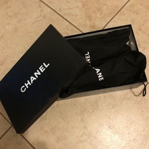 CHANEL SANDALS WEDGE HEEL WITH LARGE CC LOGO